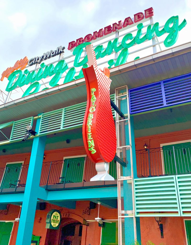The legendary Pat O'Brien's Orlando location.
