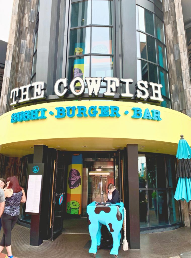 Universal Citywalk Cowfish; sushi, burgers, and bar.