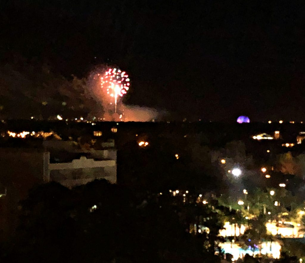 Fireworks can be seen from the Wyndham Lake Buena Vista Disney View Tower rooms!