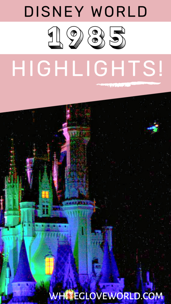 Walt Disney World 1985 welcomes Tinker Bell's first Nighttime Flight over Cinderella Castle and Nine Dragons Restaurant opens in EPCOT. #DisneyWorld50 #50Daysto50Years #Disneyhistory  #NineDragonsRestaurant #TinkerBell
