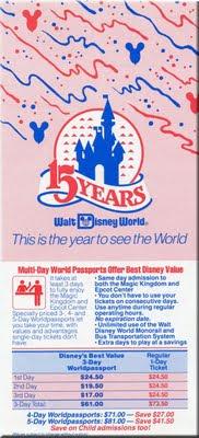 Walt Disney World 1986; the park's 15th anniversary.