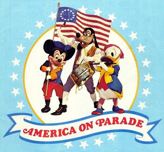 Disney World in 1976 features the memorable Disney America on Parade; 50 Days to 50 Years celebrates the countdown to its 50th anniversary.