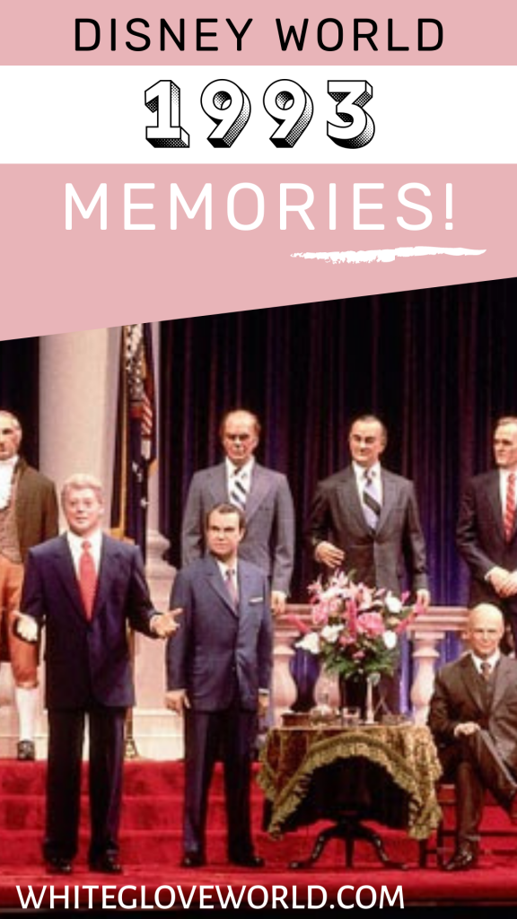 In Walt Disney World 1993, Bill Clinton joined the Hall of Presidents; the first time a serving President lent a voice for this attraction!#DisneyWorld50 #50Daysto50Years #Disneyhistory #countdownseries #1993 #HallofPresidents