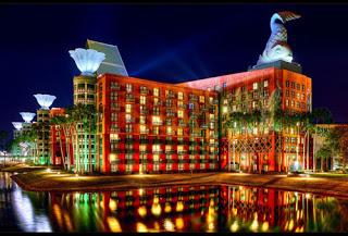 Walt Disney World Swan and Dolphin Resorts open in 1990.