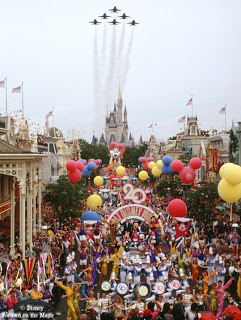 The Surprise Celebration Parade marking Walt Disney World's 20th Anniversary in 1991.